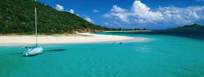 Strand på de Amerikanska jungfruöarna