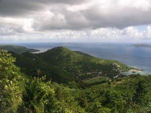 Moln över jungfruöarna