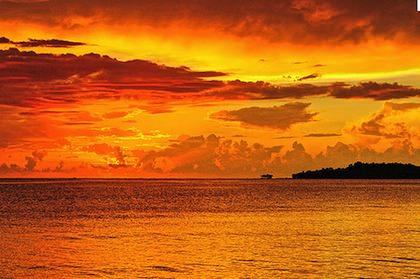 Jamaicansk solnedgång