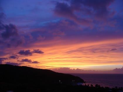 Solen går ner över Puerto Rico
