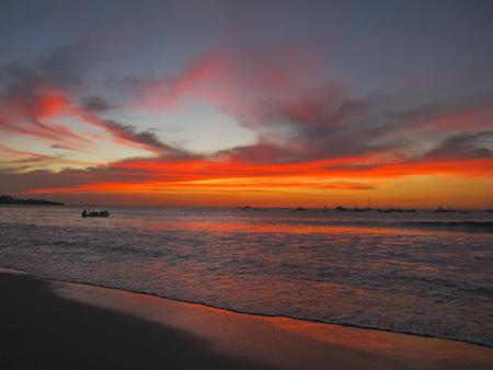 Sunset in Costa Rica.